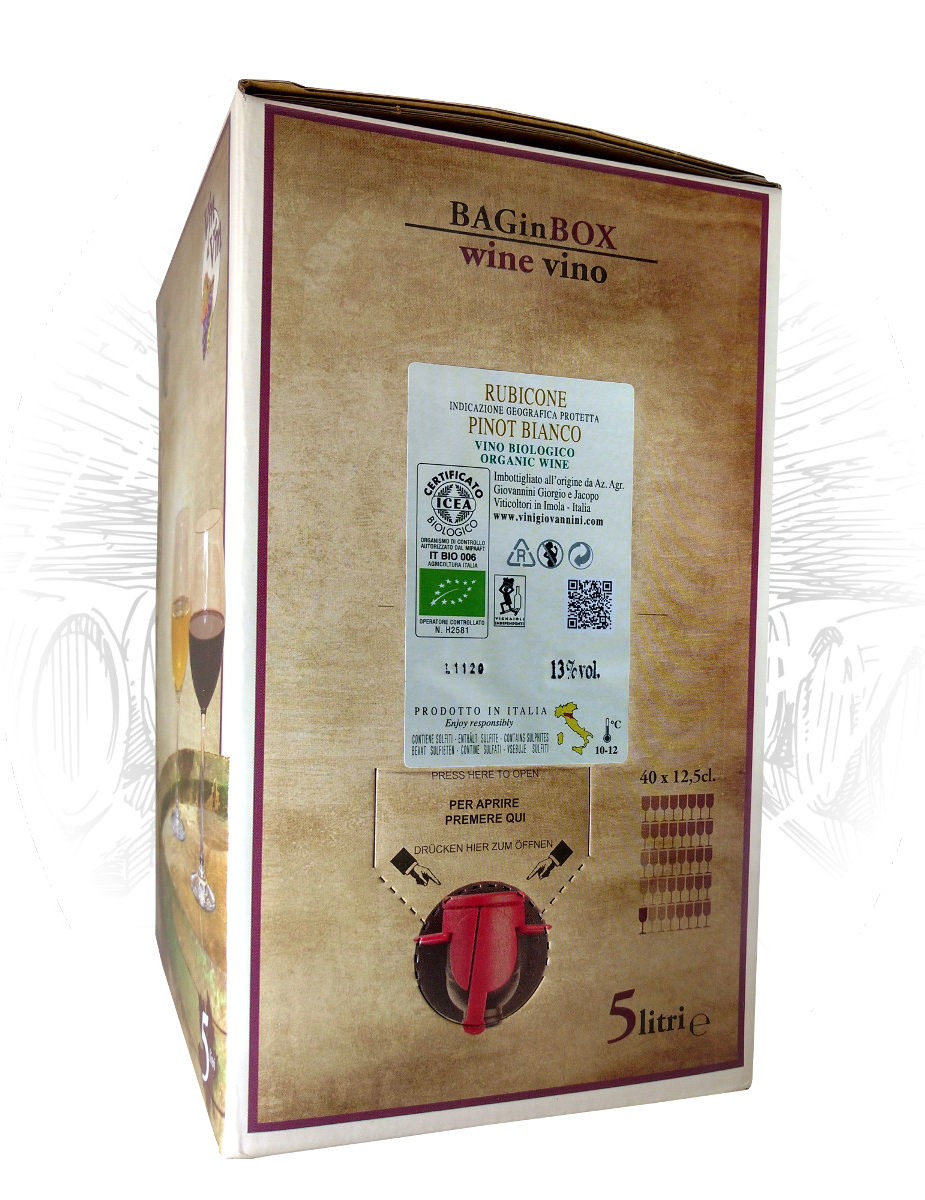 Pinot Bianco Rubicone Biologico Bag In Box Vini Giovannini Imola
