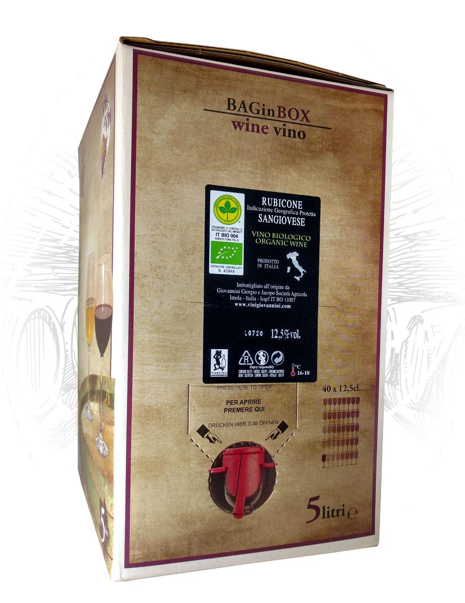 Sangiovese Rubicone Biologico Bag In Box Vini Giovannini Imola