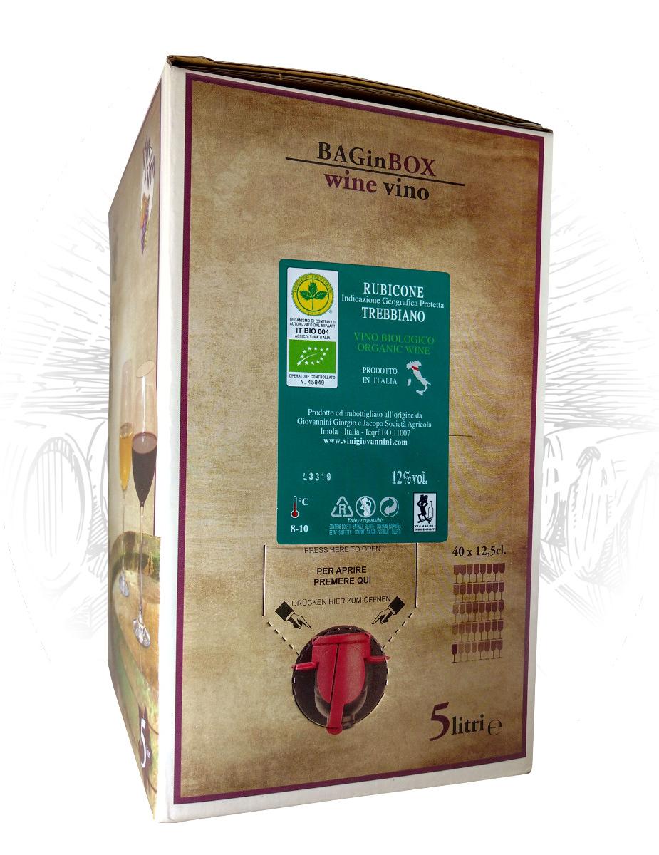 Trebbiano Rubicone Biologico Bag In Box Vini Giovannini Imola